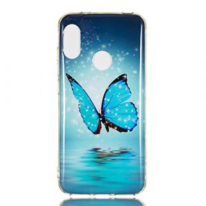 Xiaomi Mi A2 Lite Case, Luminous Noctilucent Glow in The Dark Case Matching Design Protective Phone Back Cover TPU Shell Case for Xiaomi Mi A2 Lite (Butterfly)